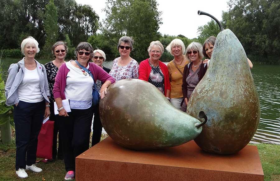 WI members at sculpture park