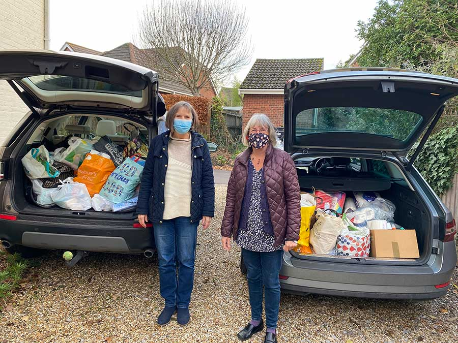 WI members collecting items for the Trussel Trust