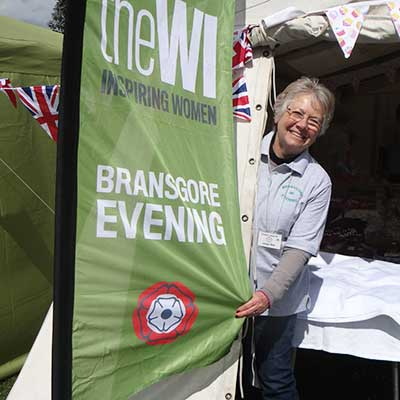 WI banner outside a marquee